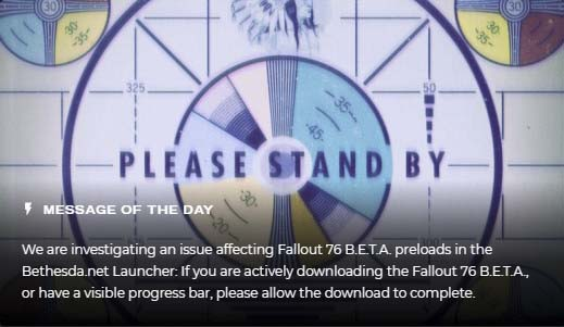 Fallout 76 Beta Break it Early seems to be Broken Already