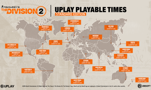 Tom Clancy's The Division 2 World Map Launch Timings
