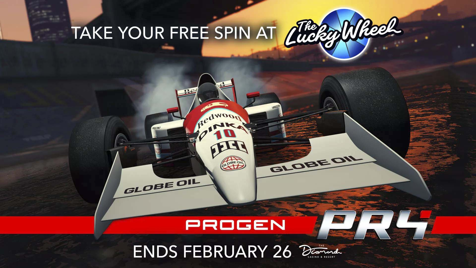 """Free Spin to Win """"The New Progen PR4"""": Now on the Podium at The Diamond Casino & Resort – Rockstar Games"""