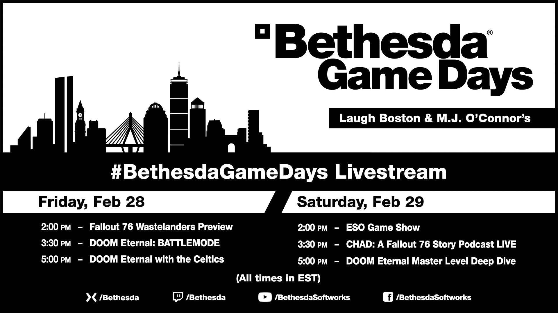 Fallout 76 Wastelanders & Doom Eternal Previews:  Bethesda Game Days in Boston February, 2020