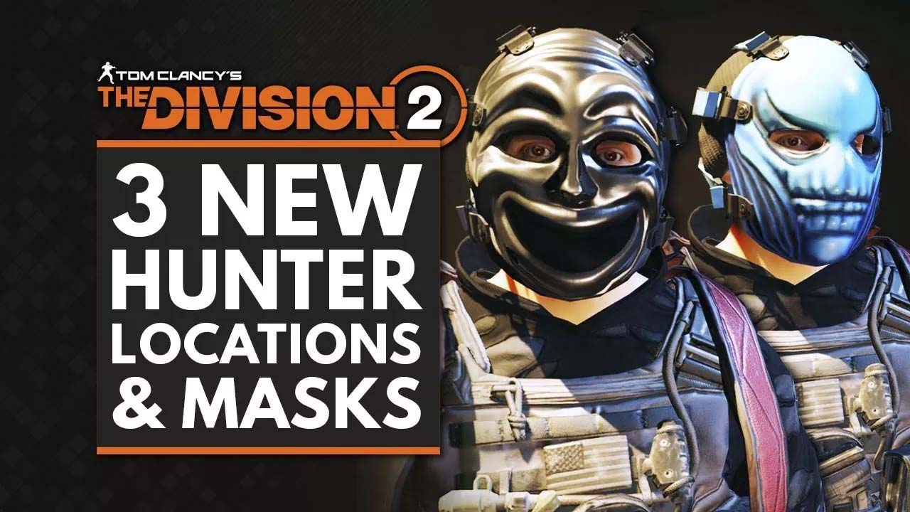 The Division 2 | How to Get 3 New Hunter Masks  in Washington DC – Drama, Weird & Angel | DC Hunter Locations Guide – Arekkz Gaming